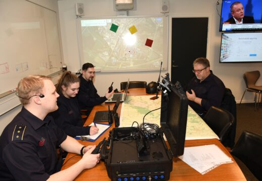 Frivillige kan også løse stabs- og logistikopgaver, som her i Herning. (Foto: Brand og Redning MidtVest)