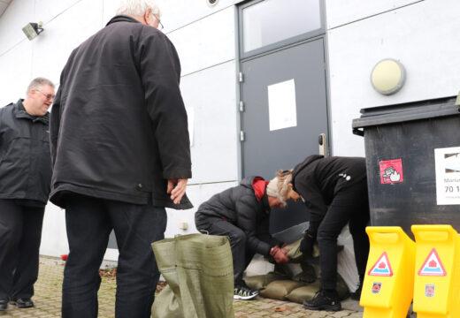 Bo Vandsikkert-kursus i Korsør 1. februar 2020. BorgerBeredskabet under Beredskabsforbundet underviser borgere i at begrænse skader ved oversvømmelser.